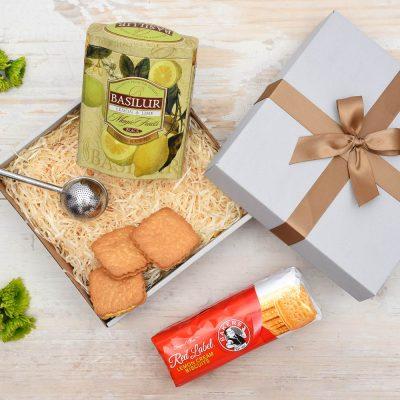 Unique Tea Gift - Basilur With Lemon Creams | Hamper World