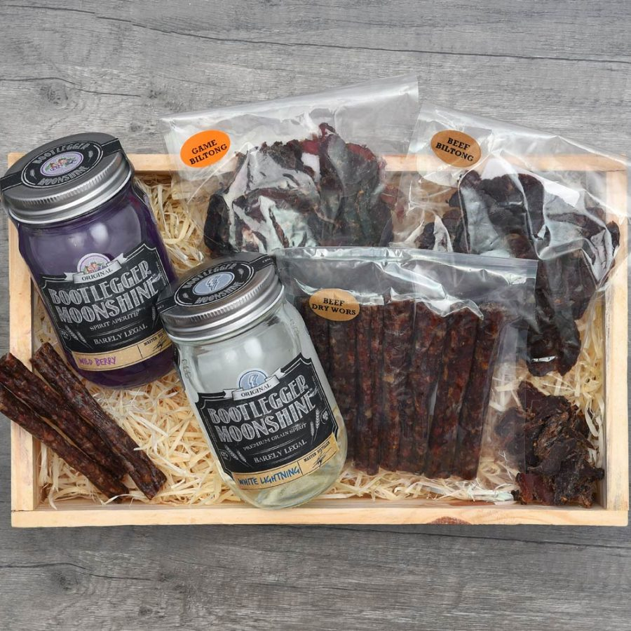 Bootlegger Moonshine & Snacks Gift | Hamper World