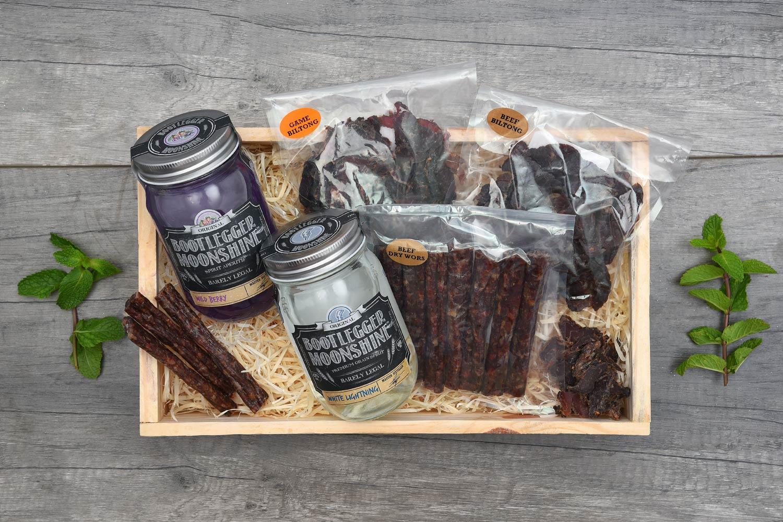 Bootlegger Moonshine & Snacks Gift | Hamper World