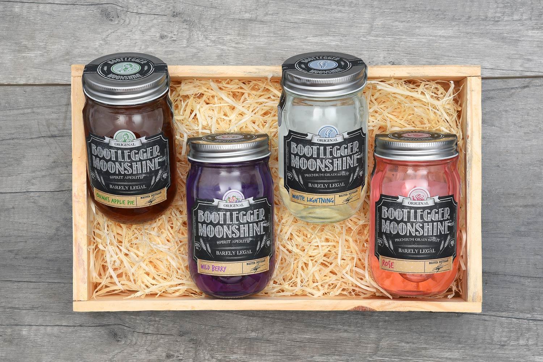 Bootlegger Moonshine Gift In Wooden Crate | Hamper World