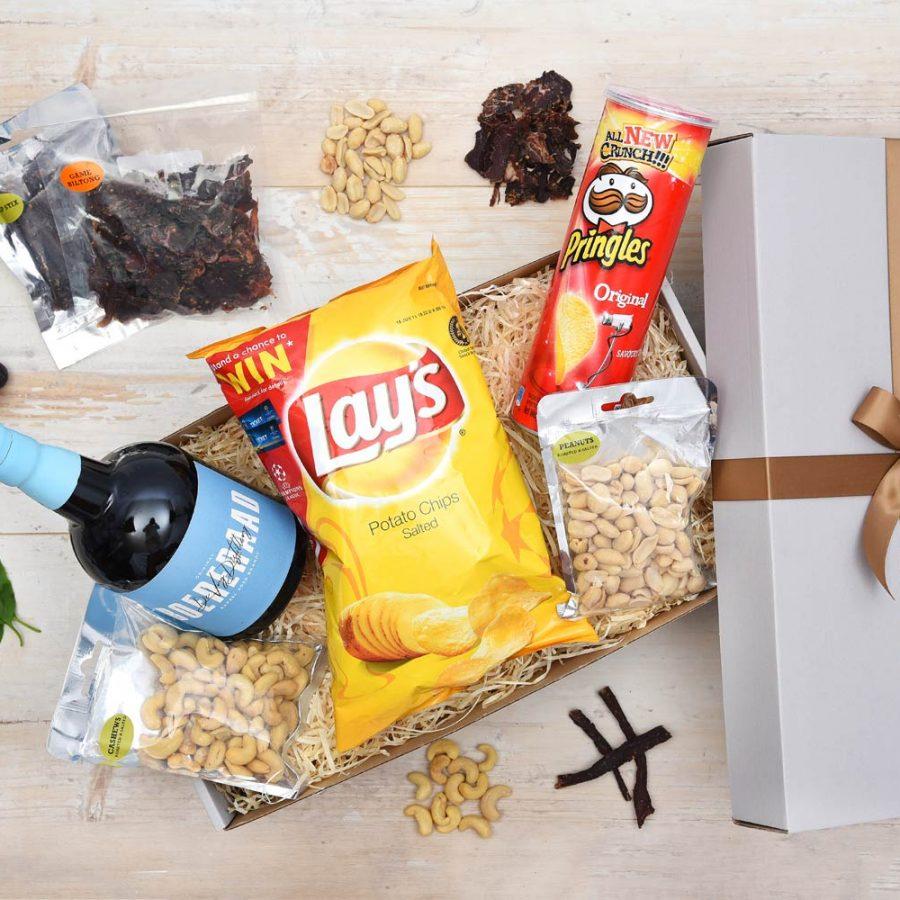 Boereraad Brandy Gift Hamper & Snacks | Hamper World