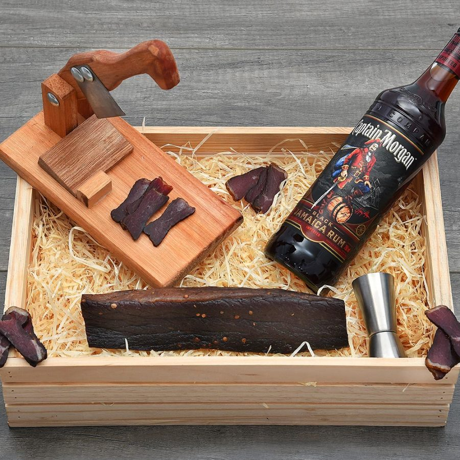 Captain Morgan & Biltong Cutter Gift Hamper | Hamper World