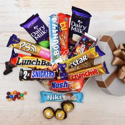 Chockablock Chocolate Hat Box | Chocolate Bars | Hamper World