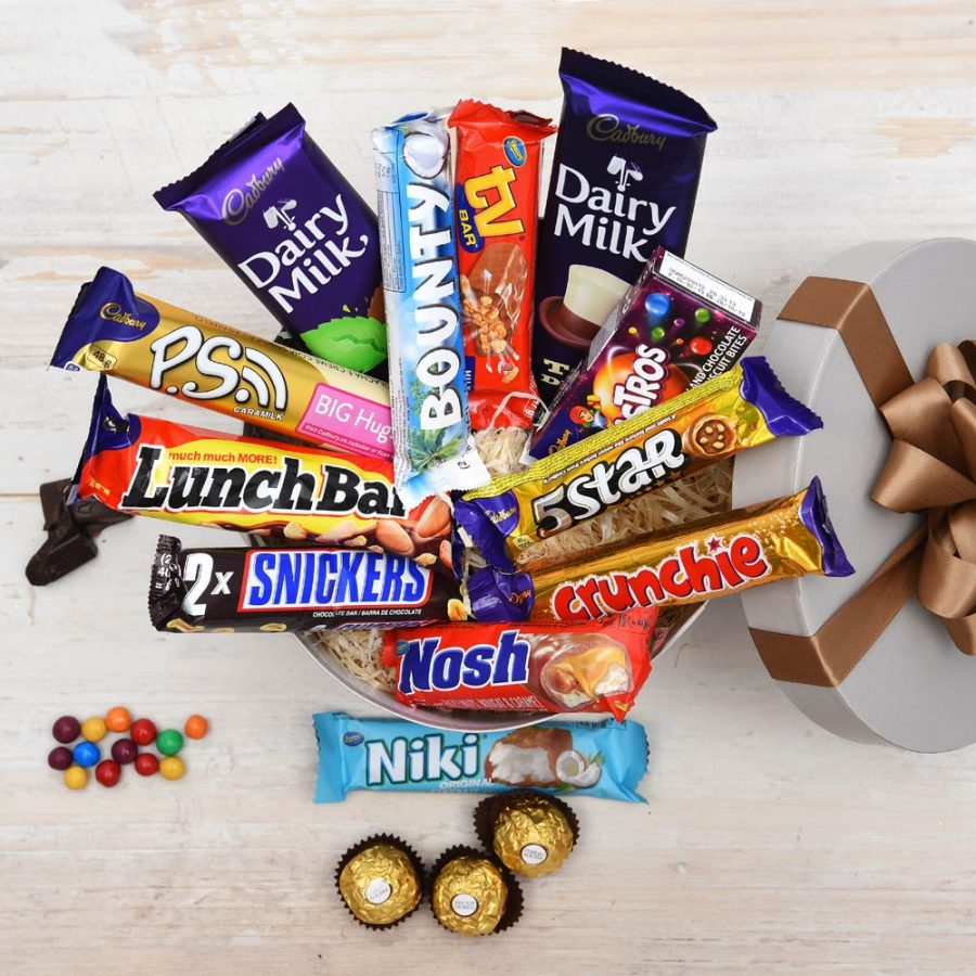 Chockablock Chocolate Hat Box | Chocolate Bars | Hamper World