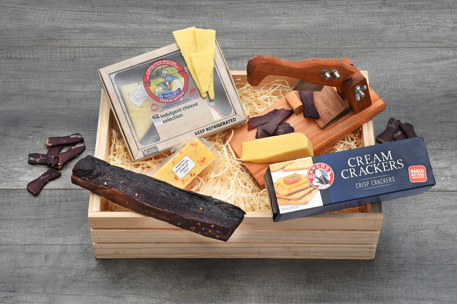 Indezi Cheese & Biltong Cutter Gift Hamper | Hamper World