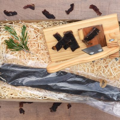 Beautiful Biltong & Biltong Cutter Gift Set | Hamper World