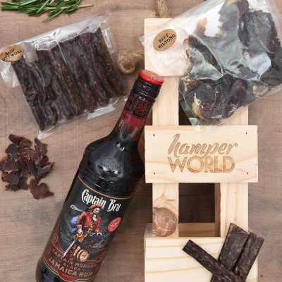 Captain Morgan & Biltong Gift Hamper | Hamper World
