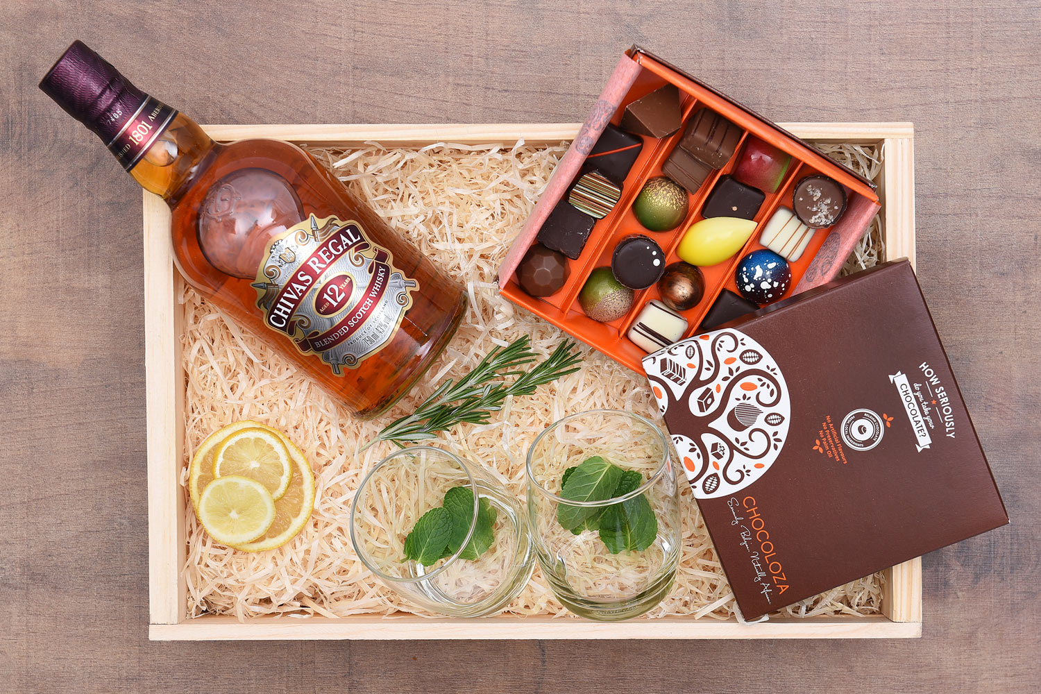 Chivas Regal 12 Year Old Whisky Gift With Chocoloza | Hamper World