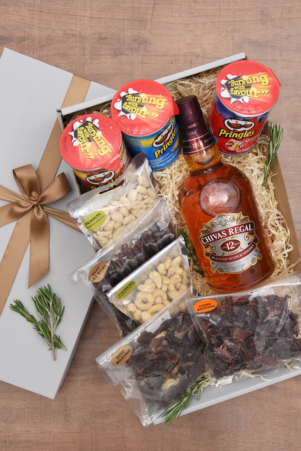 Chivas Regal 12 Year Old Whisky Gift With Salty Snacks | Hamper World