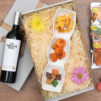 The Chocolate Block Red Wine Hamper & Snacks | Hamper World