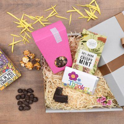 Chocolate & Popcorn Thank You Gift   Hamper World