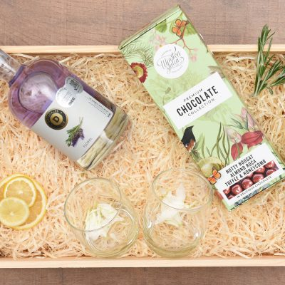 Drysdales Lavender Gin Gift & Chocolates | Hamper World