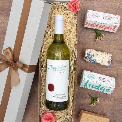 Wine Gift - Flippenice White Wine & Sweets | Hamper World