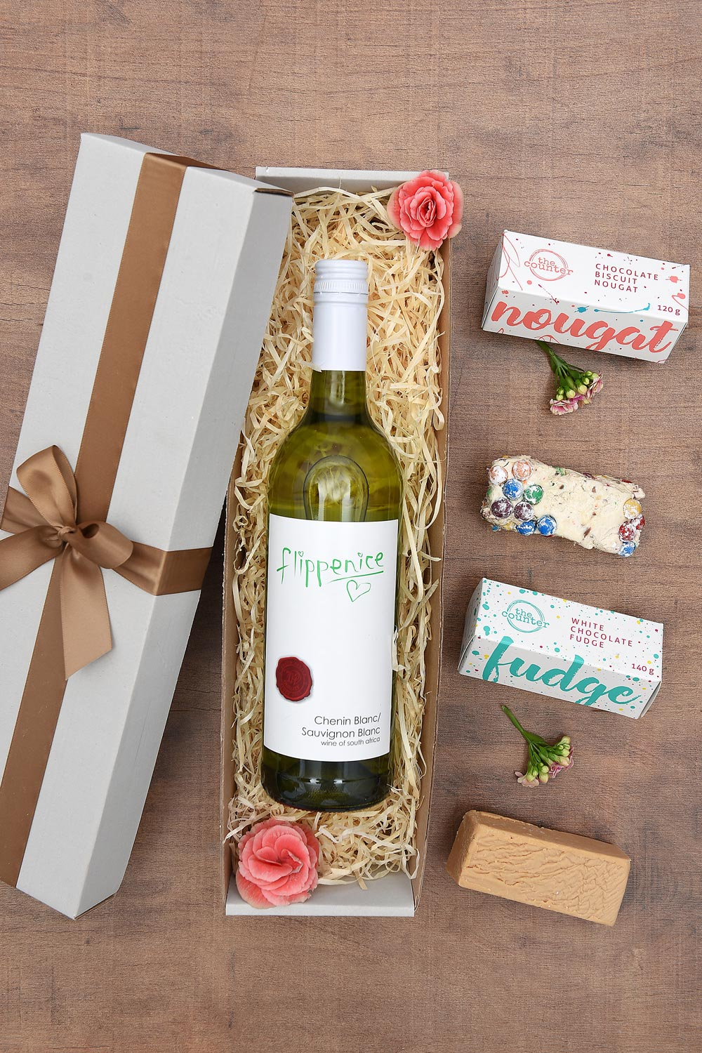 Wine Gift - Flippenice White Wine & Sweets | Hamper World