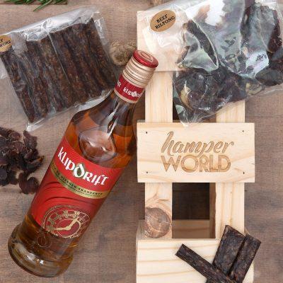 Klipdrift Brandy Gift & Biltong Hamper   Hamper World