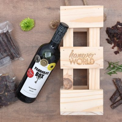 Pandora's Box Wine & Biltong Gift | Hamper World