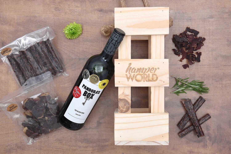 Pandora's Box Wine & Biltong Gift | Hamper World