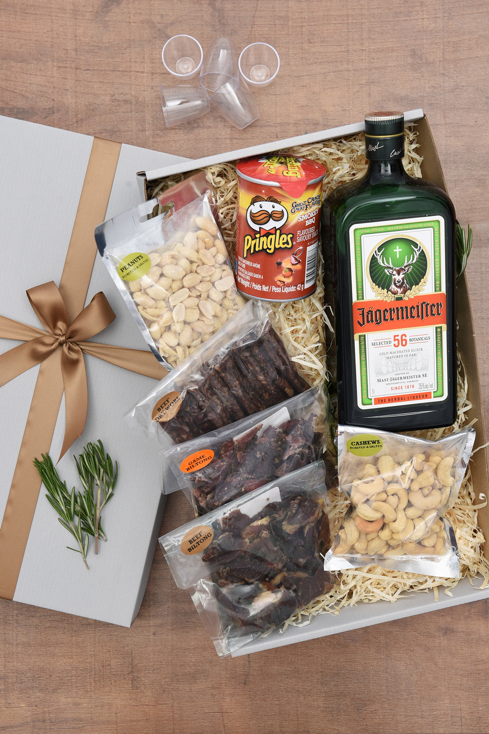 Jagermeister, Snacks & Shot Glasses | Hamper World