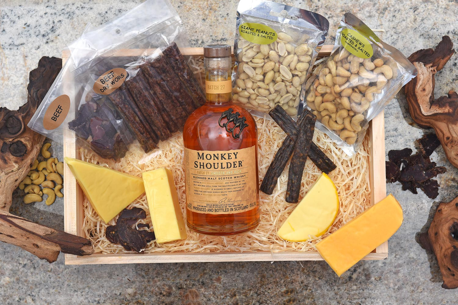 Exclusive Valentines Day Gift Monkey Shoulder and Cheese Hamper World