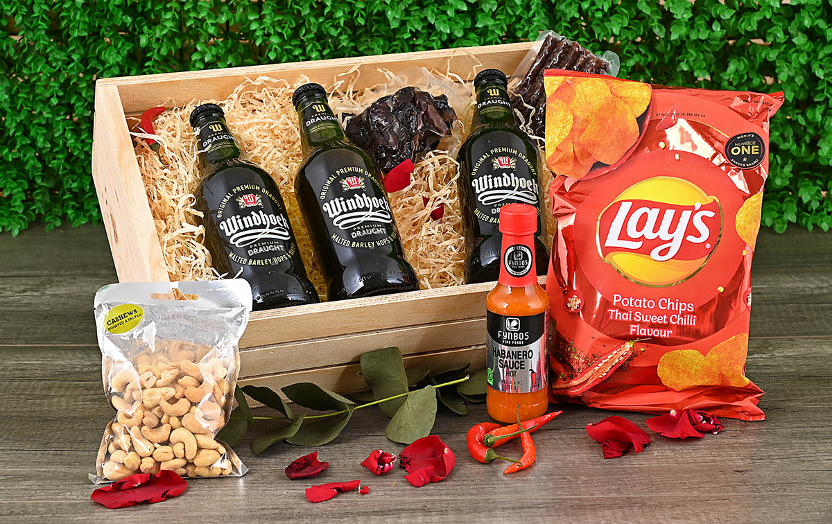Windhoek Draught Hamper with Snacks | Hamper World