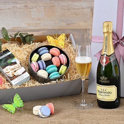Simonsig Brut MCC Hamper Macarons | Hamper World