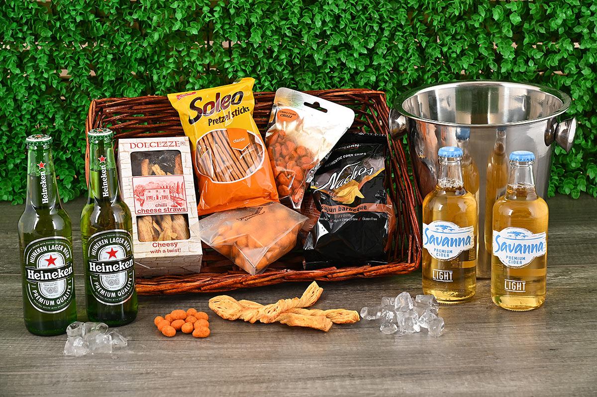 Beer & Cider Snack Hamper | Hamper World
