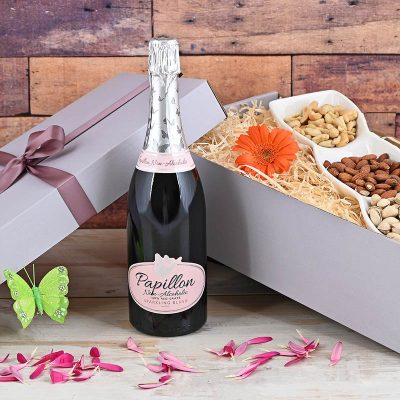 Papillon Non-Alcoholic Bubbly & Snacks | Hamper World