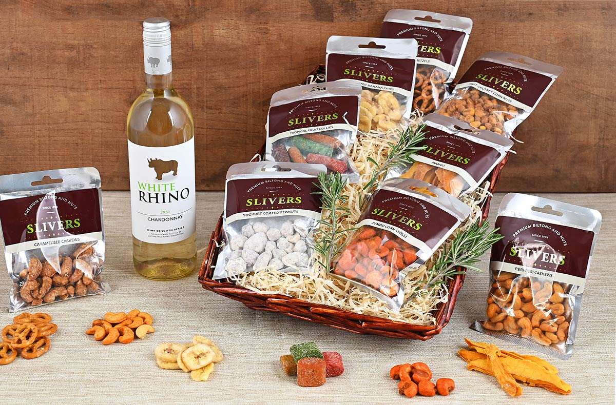 Snack & White Wine Basket | Hamper World