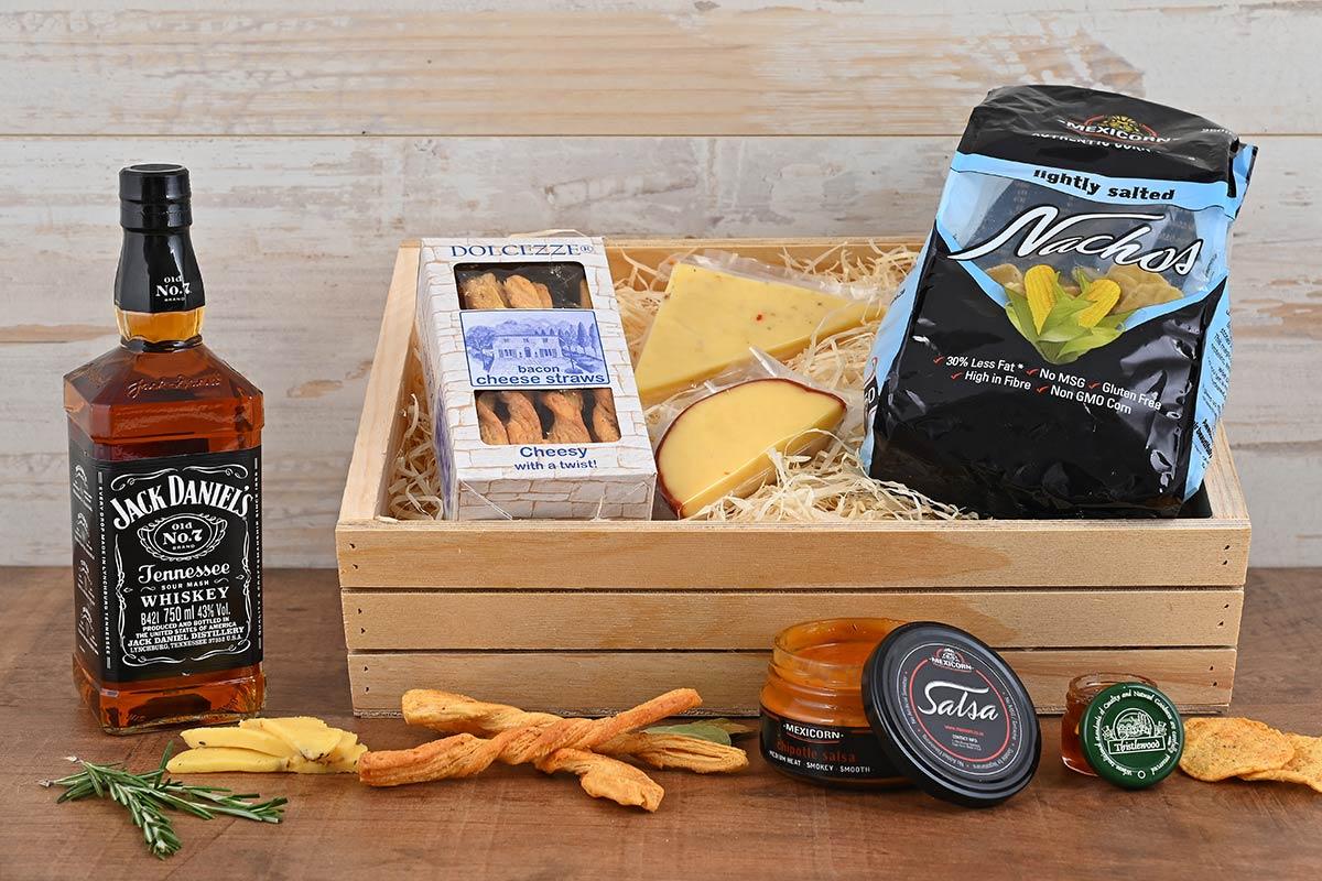 Jack Daniels Whiskey Hamper & Cheese Crate   Hamper World