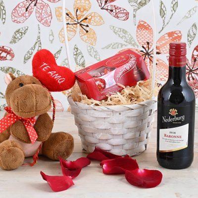 Nederburg Baronne Wine Hamper & Teddy | Hamper World