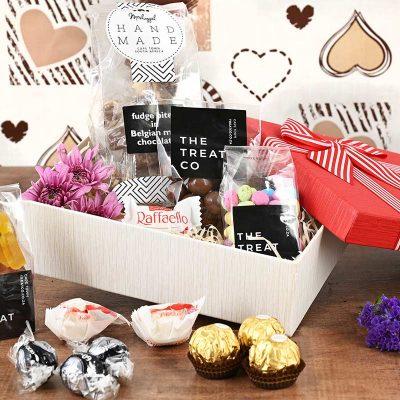 Romantic Box of Chocolates & Sweets | Hamper World