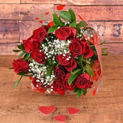 14 Romantic Red Roses Bouquet | Hamper World