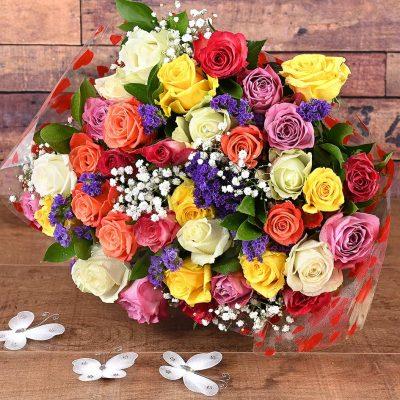 36 Romantic Mixed Roses | Hamper World