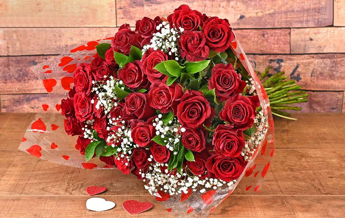 36 Romantic Red Roses Florist | Hamper World