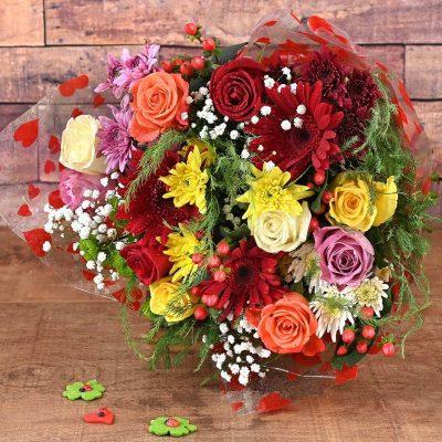 Colour Explosion Bouquet | Hamper World