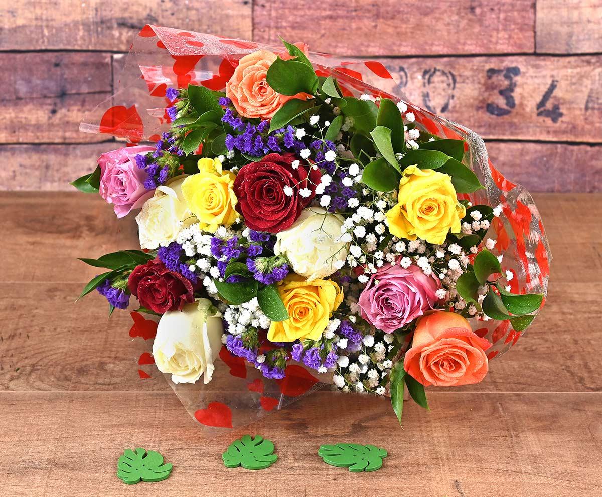 Mixed Roses Bouquet Florist | Hamper World