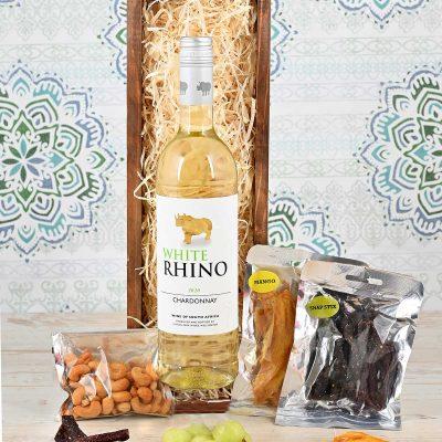 White Rhino Wine Crate | Hamper World